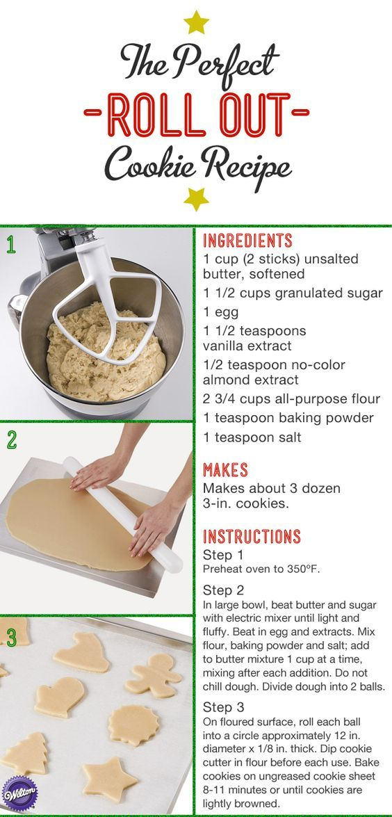 Unlike most other roll out cookie dough, there's no need to chill this recipe before rolling it out.