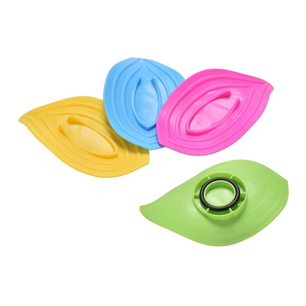 Ring Leaves Soap Box Anti-Slip Drain Clean Soap Dish Kitchen Sink Sponge Holder