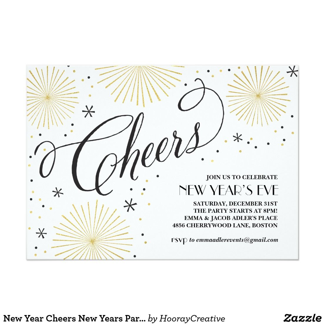 New Year Cheers New Years Party Invitation A new year\'s eve themed ...