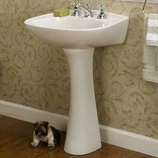 "Check out the Barclay 3-318 Hartford 8"" Widespread Pedestal Bathroom Sink priced at $108.46 at Homeclick.com."