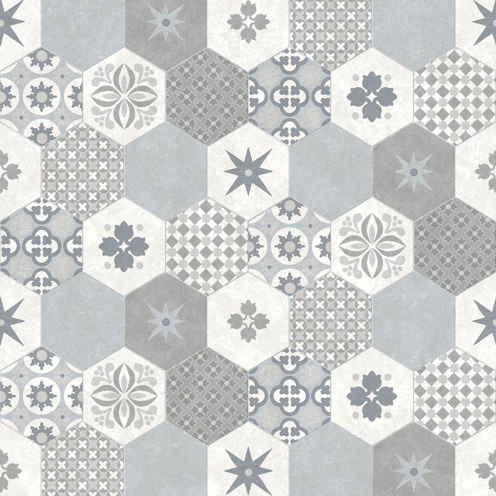 Modern Wallpaper Patchwork Tiles Muriva L4050 Co Hinh ảnh Gạch