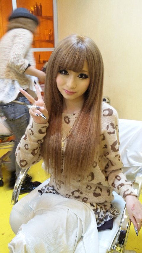 Straight Gyaru Hair Style Galgyaru Pinterest Gyaru Hair
