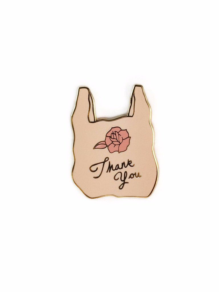 This thank you bag is way more environmentally friendly than those plastic ones…