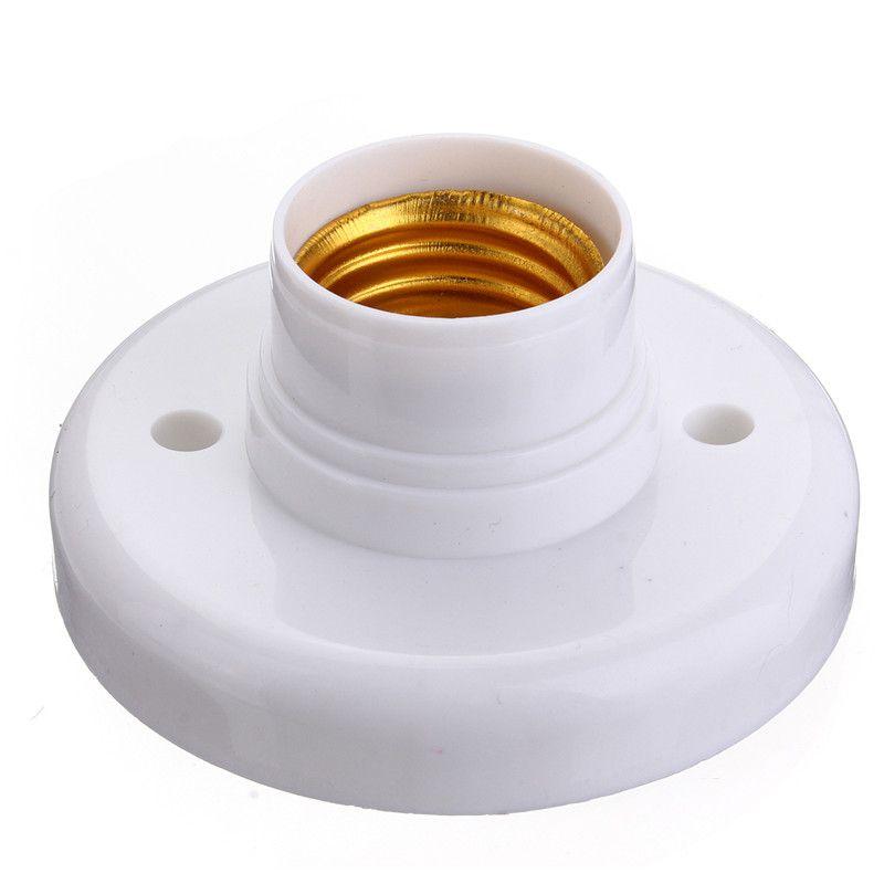 E27 Screw Base Round Plastic Light Bulb Lamp Socket Holder Adapter Round Lamp Bulb Socket Bases White Lamp Holder Lamp Socket Light Bulb Lamp Socket Holder