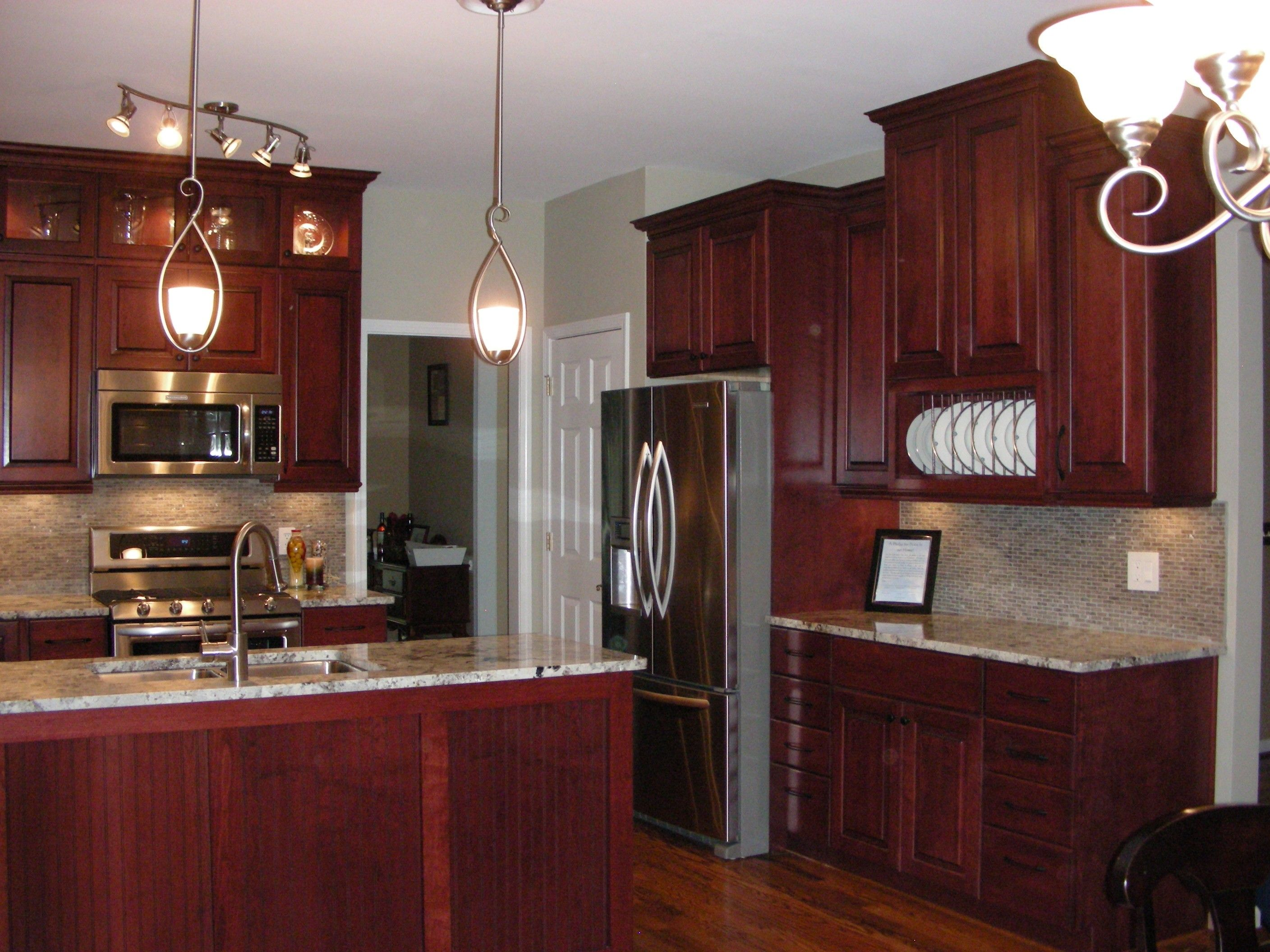 Kitchen Paint Colors With Cherry Cabinets Cherry Kitchen Cabinets Wall Color Gray Kitch Cherry Wood Kitchen Cabinets Grey Kitchen Walls Cherry Cabinets Kitchen