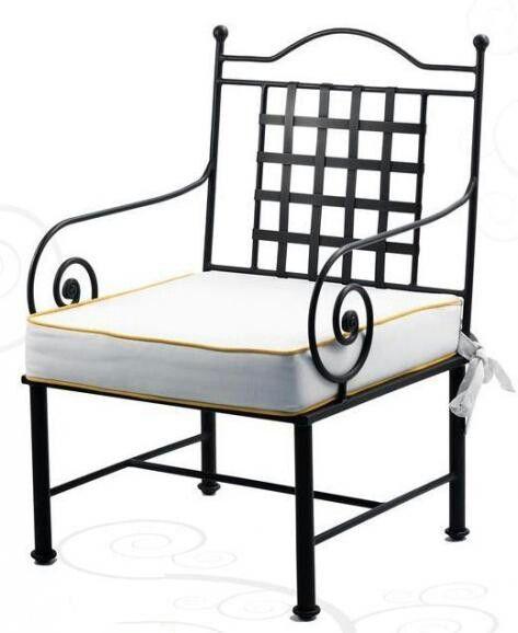 Silla de hierro forjado decoraci n pinterest sillas for Sillas para jardin de herreria