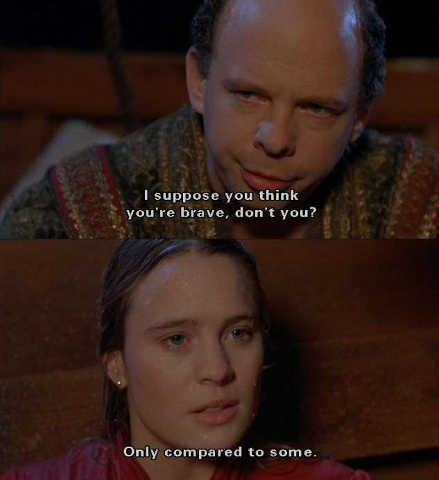 I Suppose You Think You Re Brave Don T You The Princess Bride Princess Bride Quotes Princess Bride Movie Princess Bride