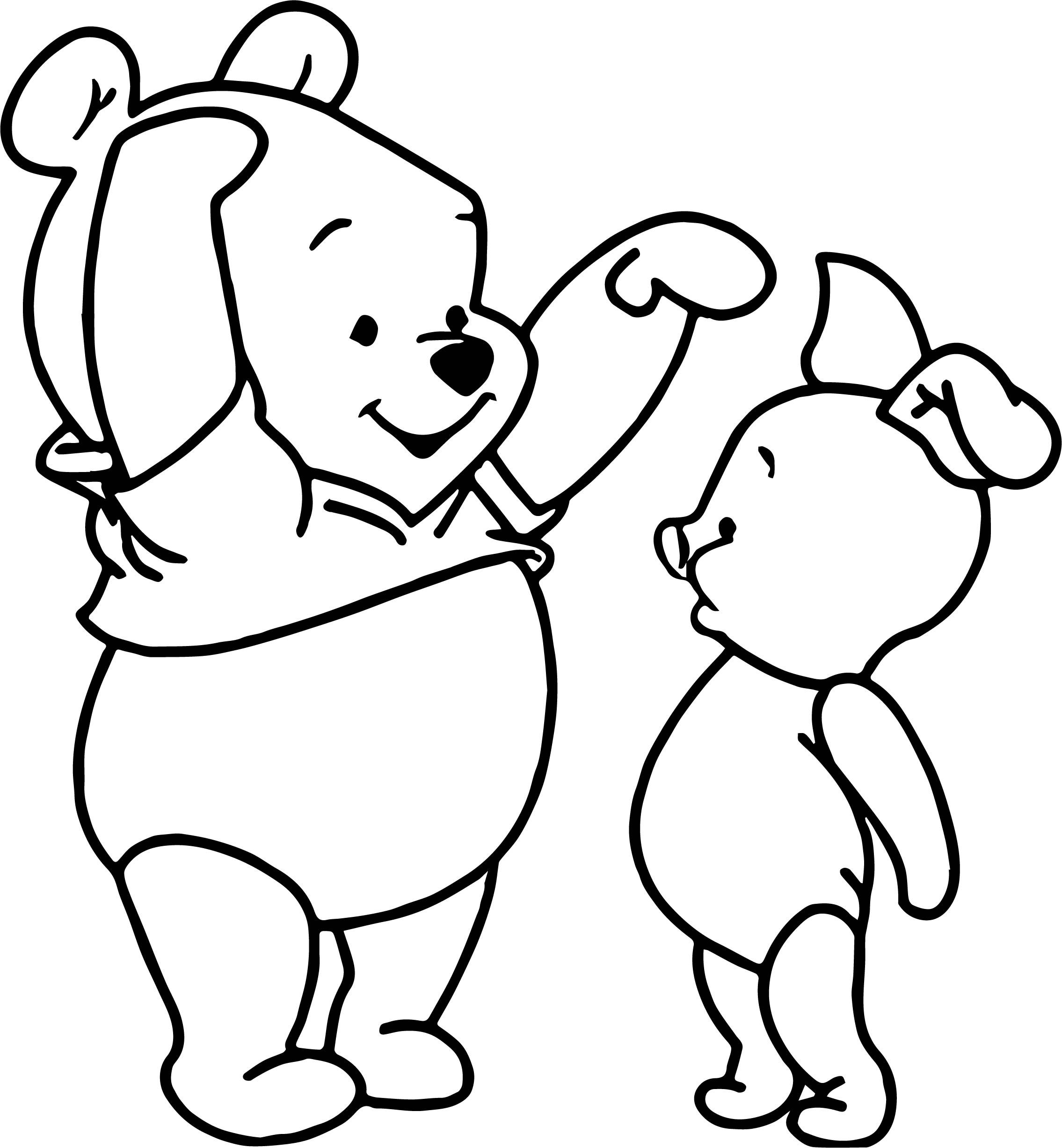 Awesome Baby Piglet Winnie The Pooh Tall Short Coloring