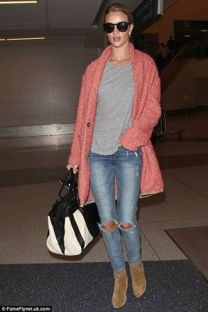 Rosie Huntington-Whiteley LAX Airport May 5 2015