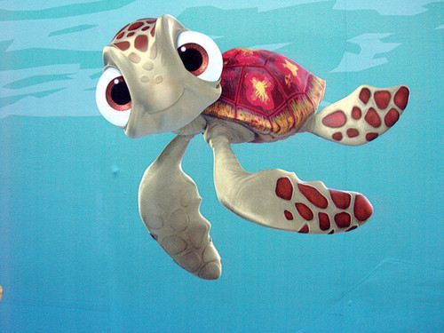 It's one of the baby turtles form Finding Nemo ) Love