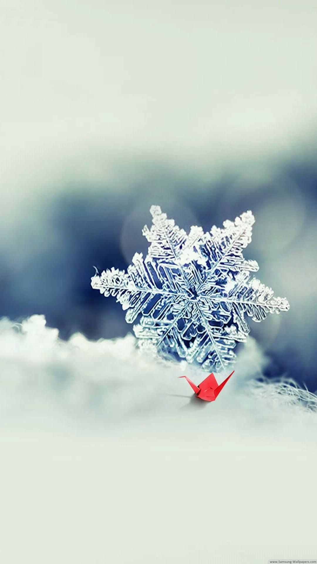 Snowflake Origami Crane Snowflake Wallpaper Cool Pictures For