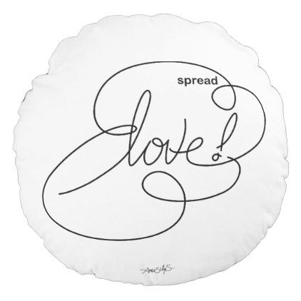 Spread LOVE Bold CloudS Round Pillow - Bold diy circus animal cookie pillows