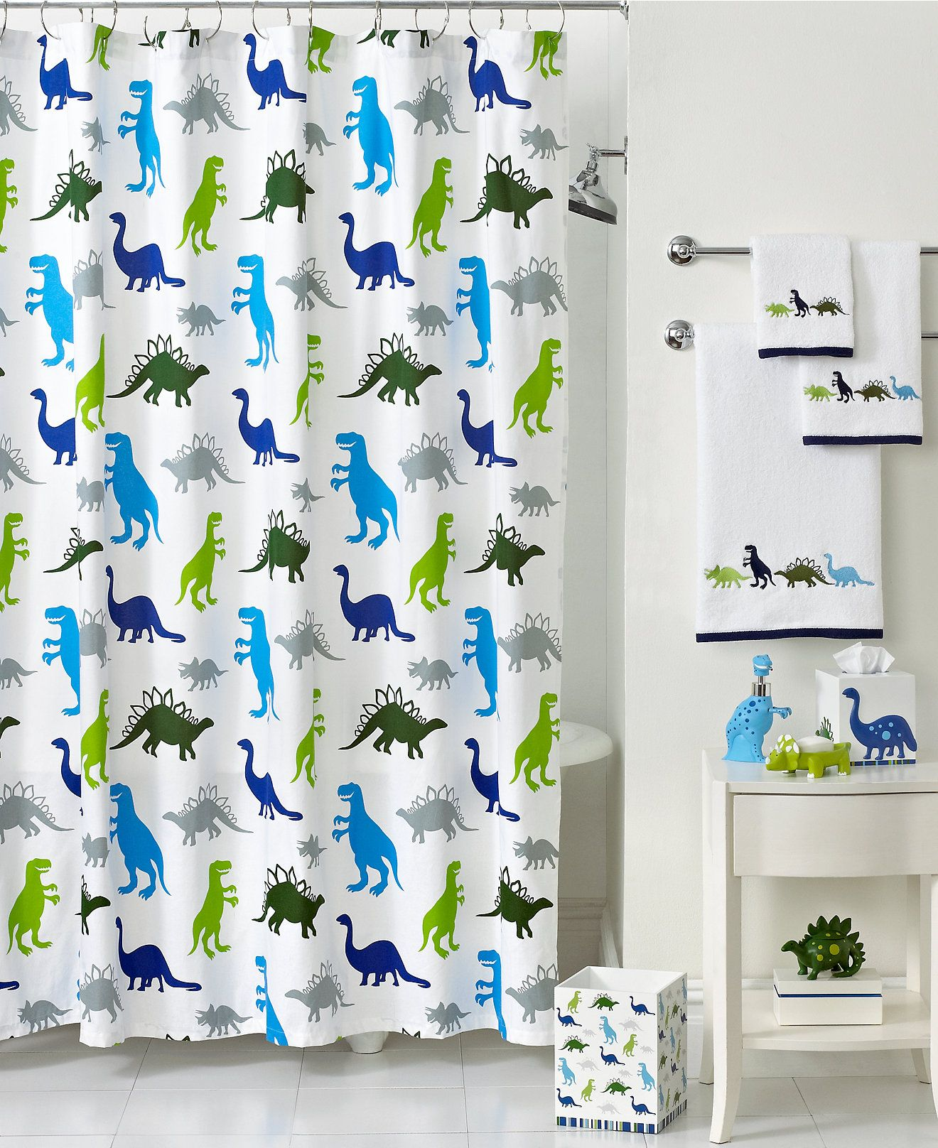 Kassatex Bath Accessories Dino Park Shower Curtain Shower Curtains Accessories Bed