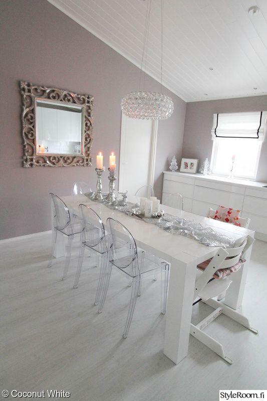 keittiö,peili,valkoinen,kartell,ruokapöytä
