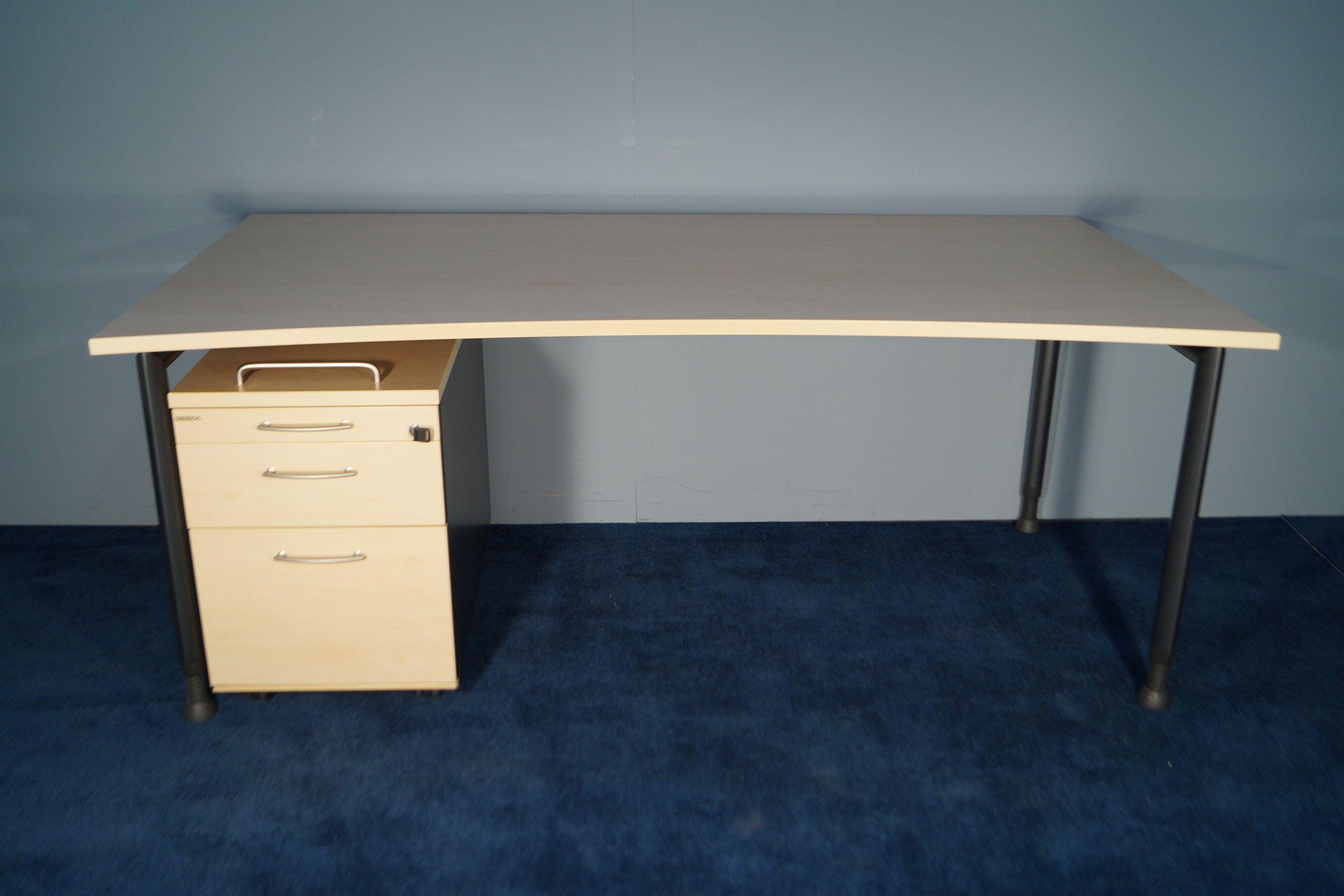 Schreibtisch, Cockpitform, Hersteller: Gesika, Arbeitsplatte ...