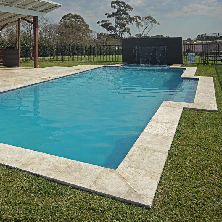 Light Travertine Pavers Bullnose Pool Coping Tile