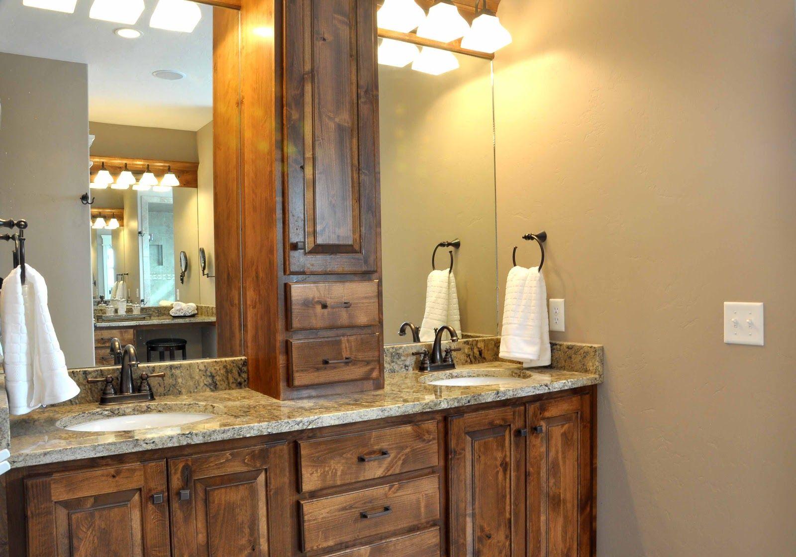 Dark Stained Knotty Alder With Granite 723 Smithfield Master Bedroom Bath Lake Home Ideas