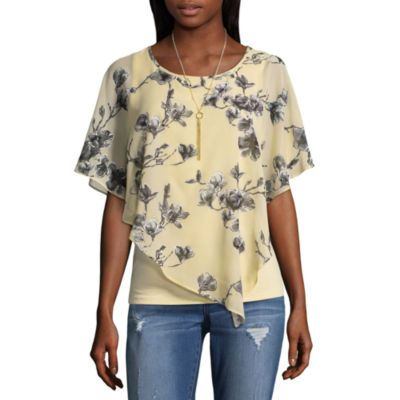 e7e907c034ae87 Alyx Short Sleeve Round Neck Knit Blouse - JCPenney | Style | Blouse ...