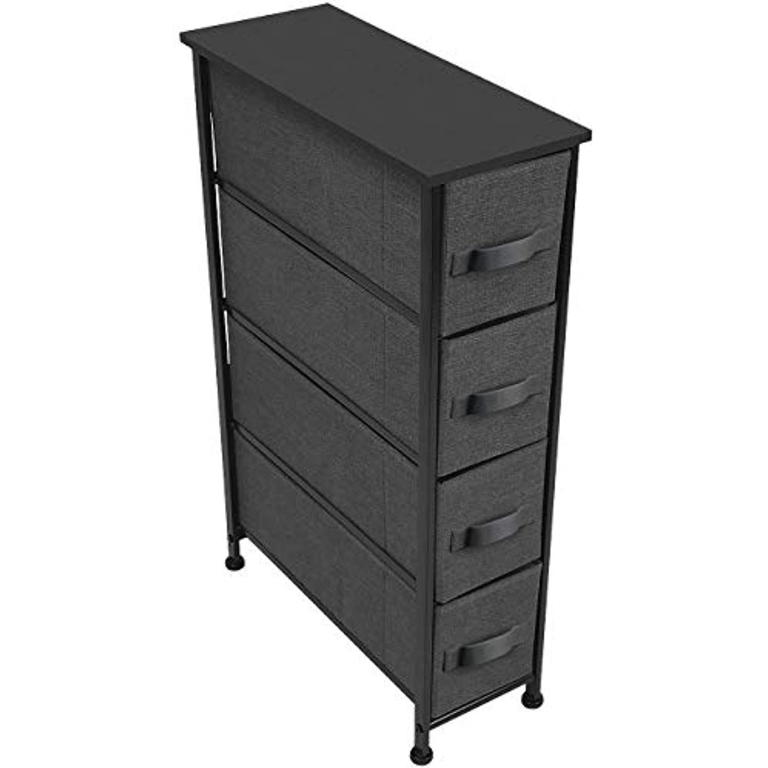 Sorbus Narrow Dresser Tower With 4 Drawers Vertical Storage For Bedroom Bathroom Laundry Closets And More Steel Drawers Fabric Drawers Chest Of Drawers