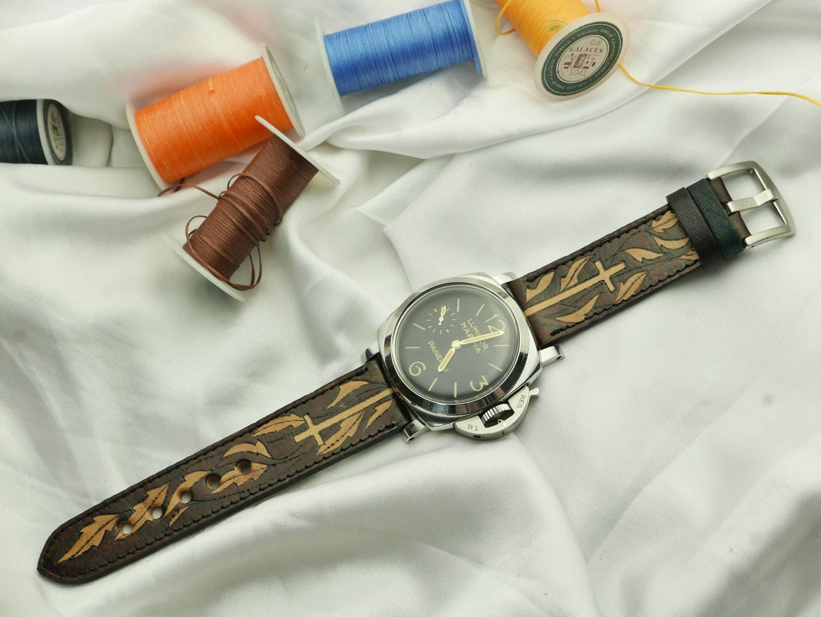 4a258b2b4 Details about 24mm/22mm Genuine Alligator,Crocodile Leather Watch Strap  BAND for Panerai watch | Accessories | Panerai watches, Crocodile và Crocodile  skin