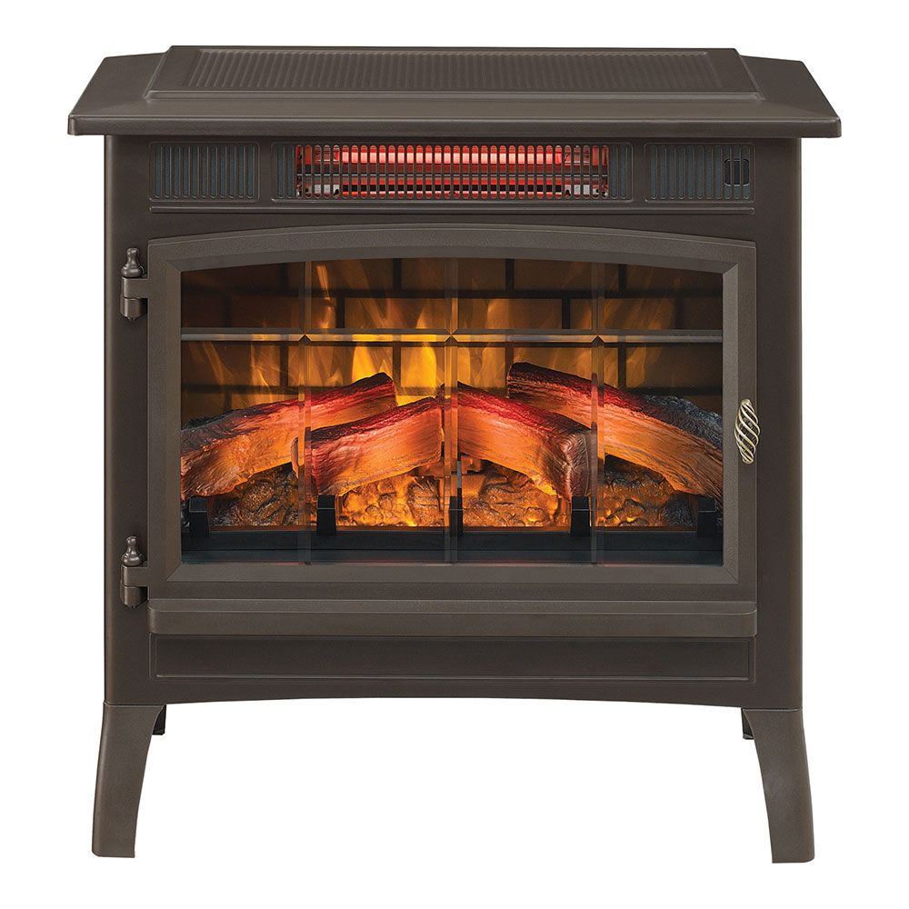 Duraflame 3d Bronze Infrared Electric Fireplace Stove With Remote