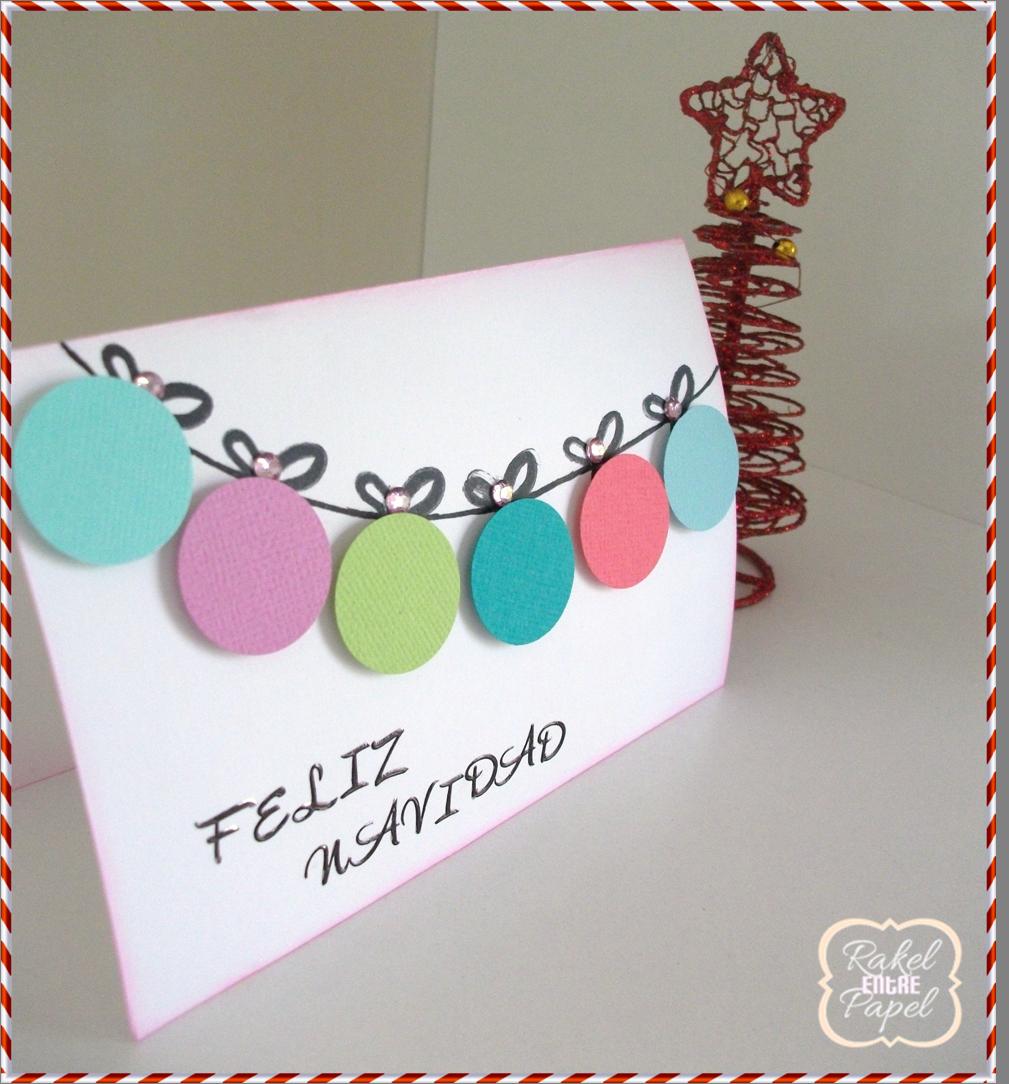Tarjeta navide a f cil y r pida tarjetas pinterest - Como hacer tarjetas de navidad faciles ...