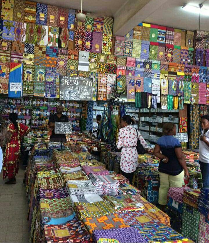 Fabric Shop On Avenue De Commerce In Kinshasa Congo Your Storefrontoftheday Photo By Intrepid Public African Print Fabric Afrocentric Decor African Print