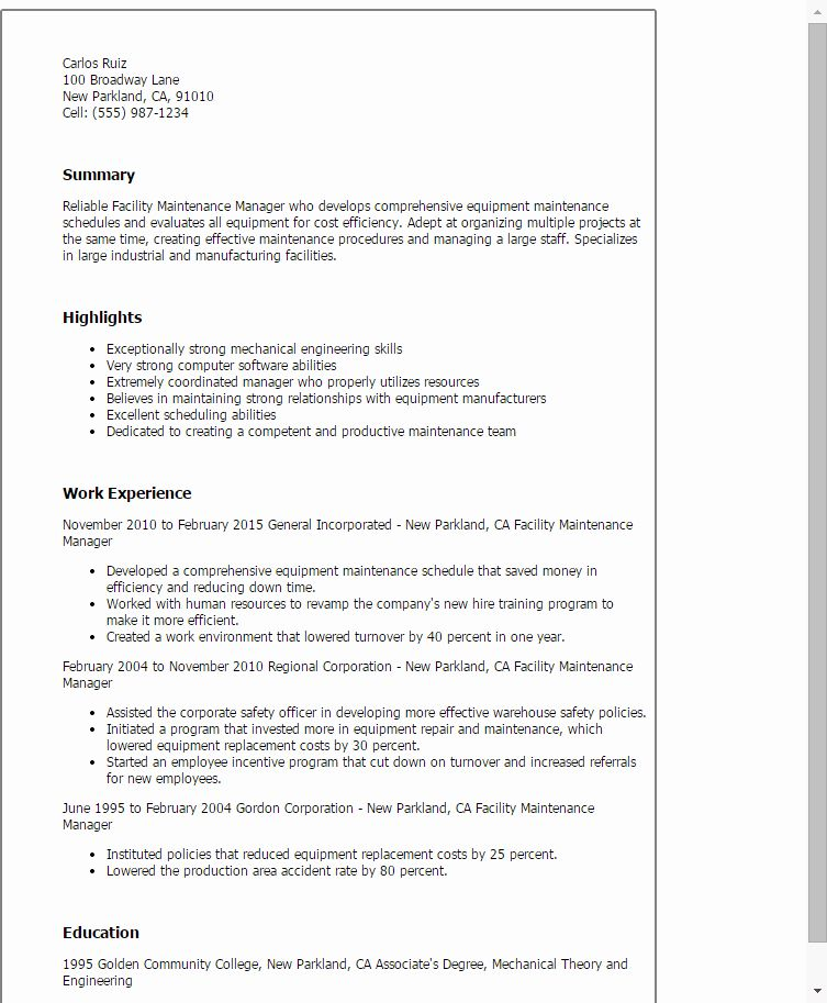 21+ Maintenance worker resume skills Examples