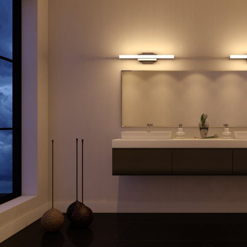 Armendariz 1 Light Dimmable Led Silver Bath Bar Deco Salle De Bain Decoration Salle De Bain