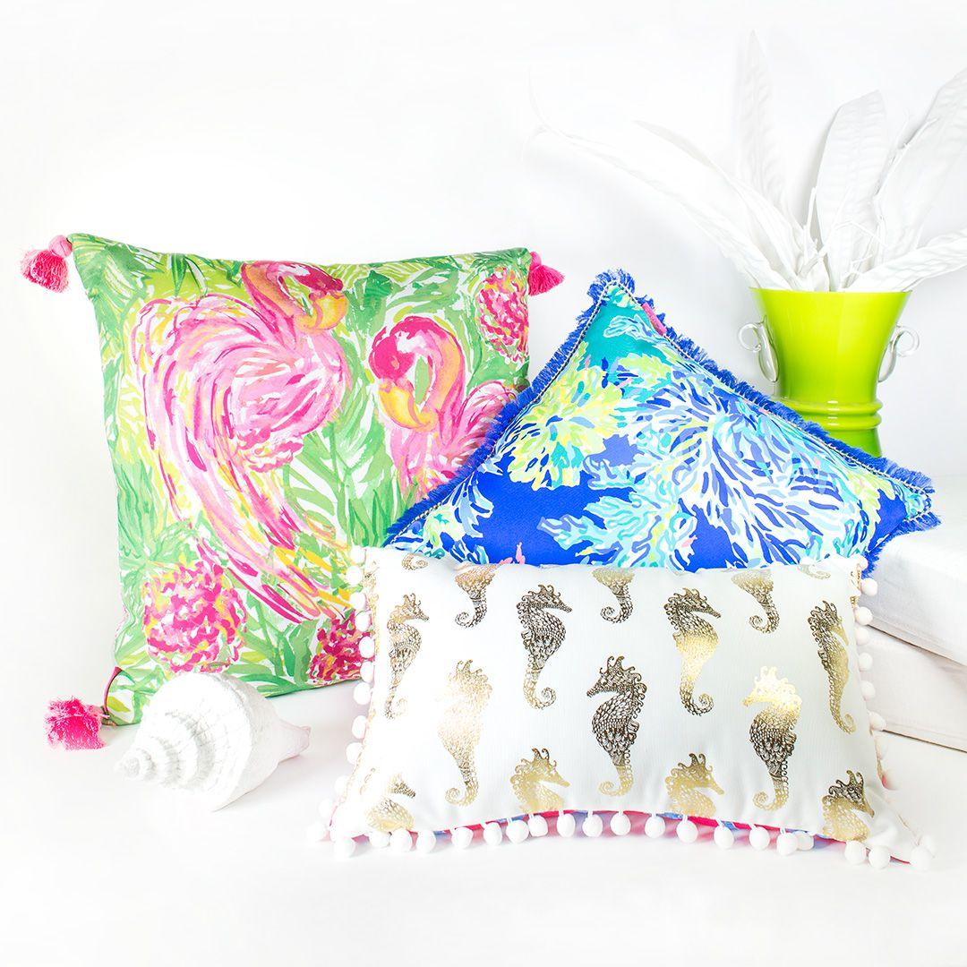 Lilly Pulitzer Pillow XLarge Flamingo Flamingo Pillows and