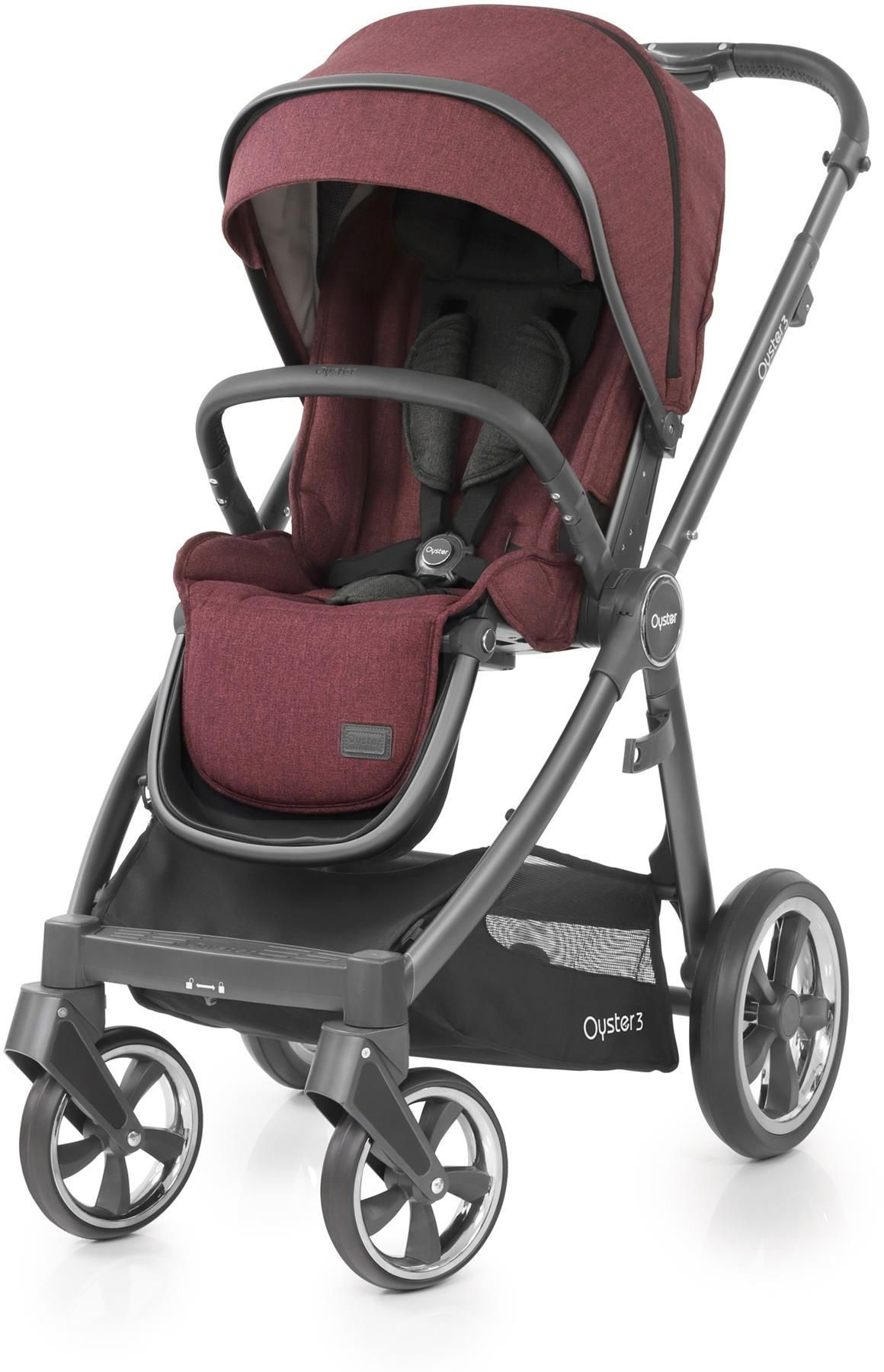 Oyster Pram Purple Babystyle Oyster 3 Stroller City Grey Chassis Berry