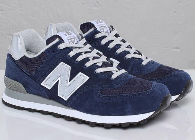 new balance 574 navy denim