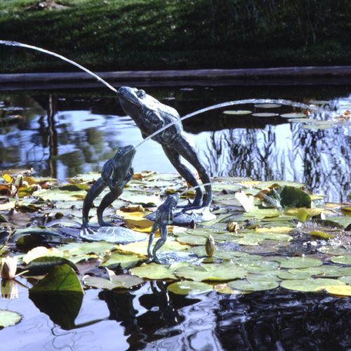 Leaping frog pond pool spitter garden fountains for Outdoor fish ponds for sale