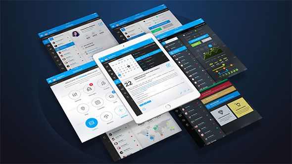 Tablet Presentation Pack Template - Awesome after effects website template design