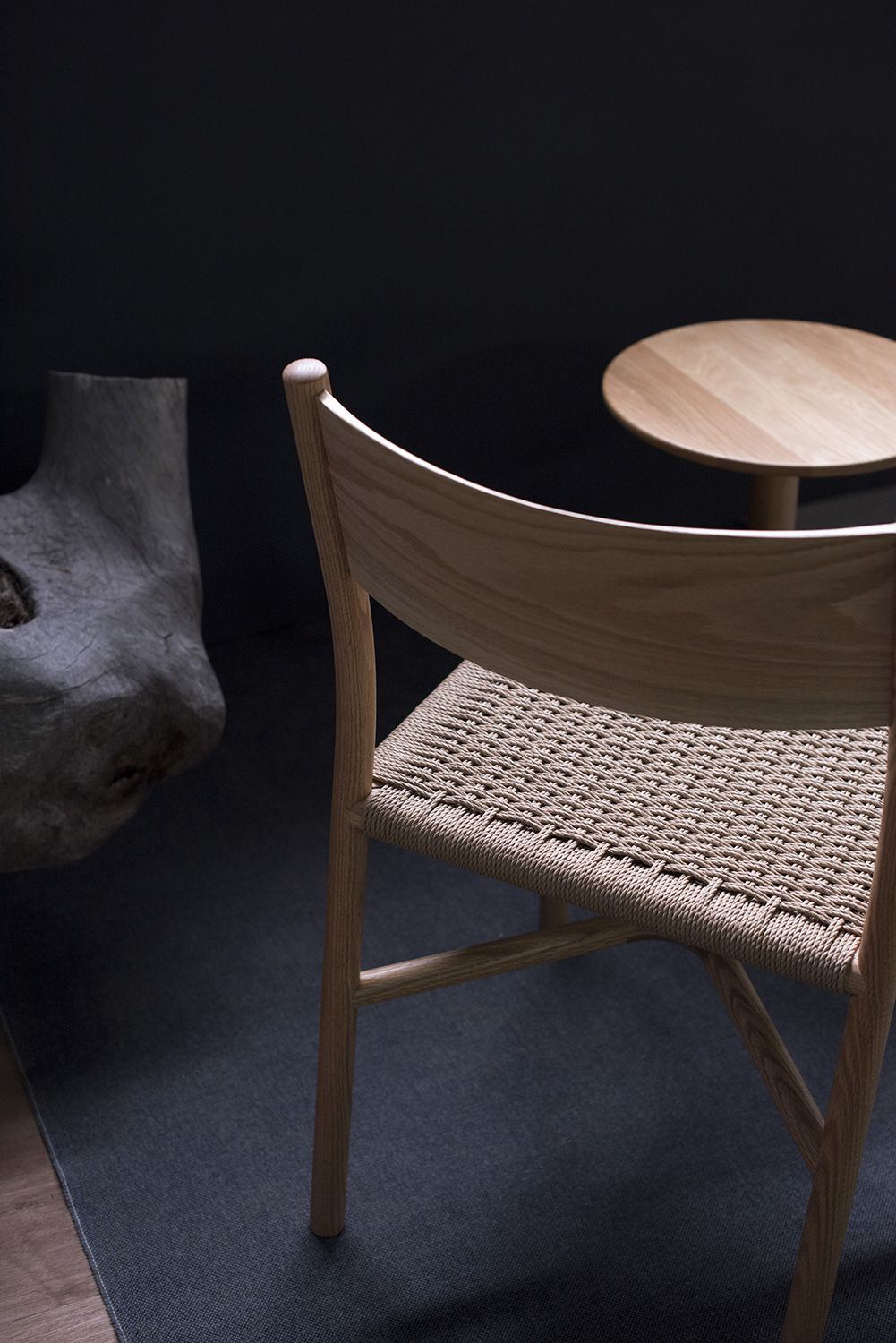 Ariake Chair Oak Paper Cord Fabric Seat Seat Design Leather Cushion