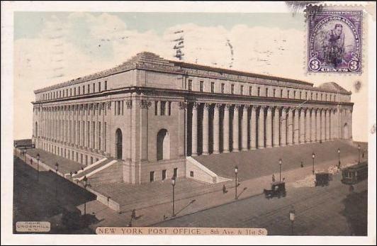 New York Post Office 8th Avenue 31st Street New York City New