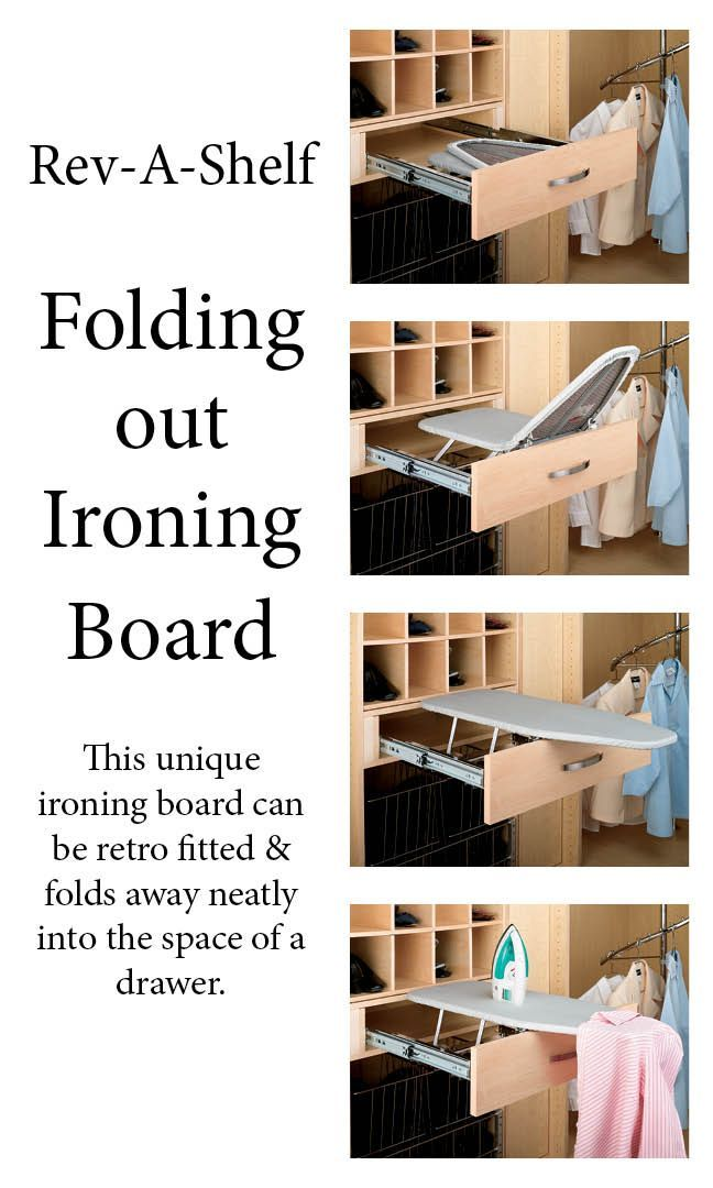 Pull Out Ironing Board Closet Depth in 2020 Pull out