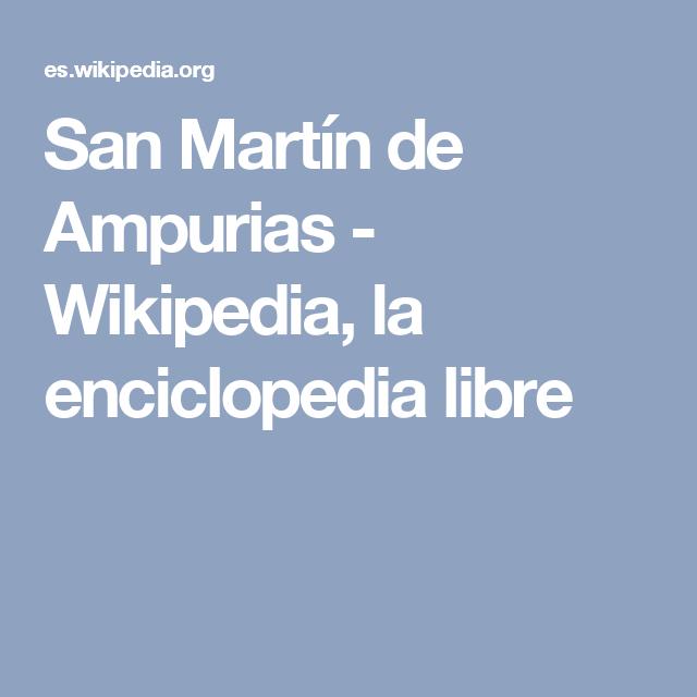 San Martín de Ampurias - Wikipedia, la enciclopedia libre