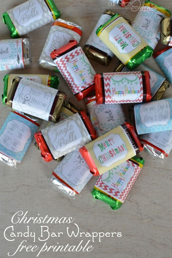 Gift Idea & Free Printables Printable Christmas candy bar wrappers. Such a fun idea for a gift or party snack {Christmas Neighbor Gift or Teacher Gift Idea}Printable Christmas candy bar wrappers. Such a fun idea for a gift or party snack {Christmas Neighbor Gift or Teacher Gift Idea}