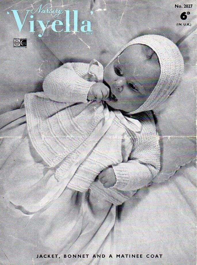 baby knitting patterns pdf baby 3 ply matinee coat bonnet cape ...