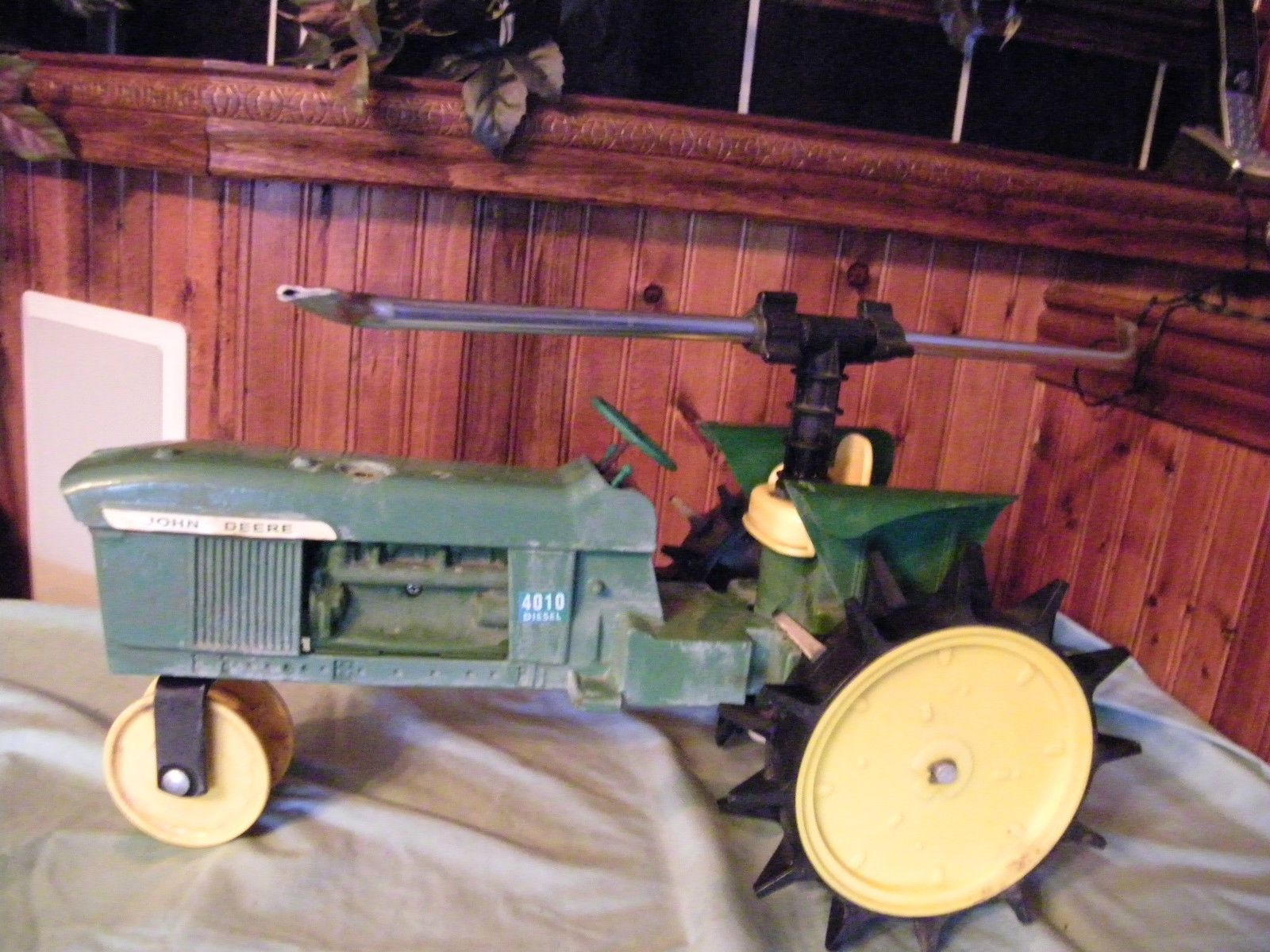 Traveling Lawn Sprinkler Tractor : Gilmour cast iron john deere traveling sprinkler lawn