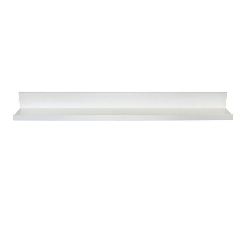 Inplace 35 4 In W X 4 5 In D X 3 5 In H White Mdf Picture Ledge Floating Wall Shelf 9084678 Floating Wall Shelves Picture Shelves Wall Mounted Shelves