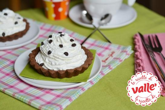 Crostatine al cacao con mousse di ricotta #auguri #compleanno
