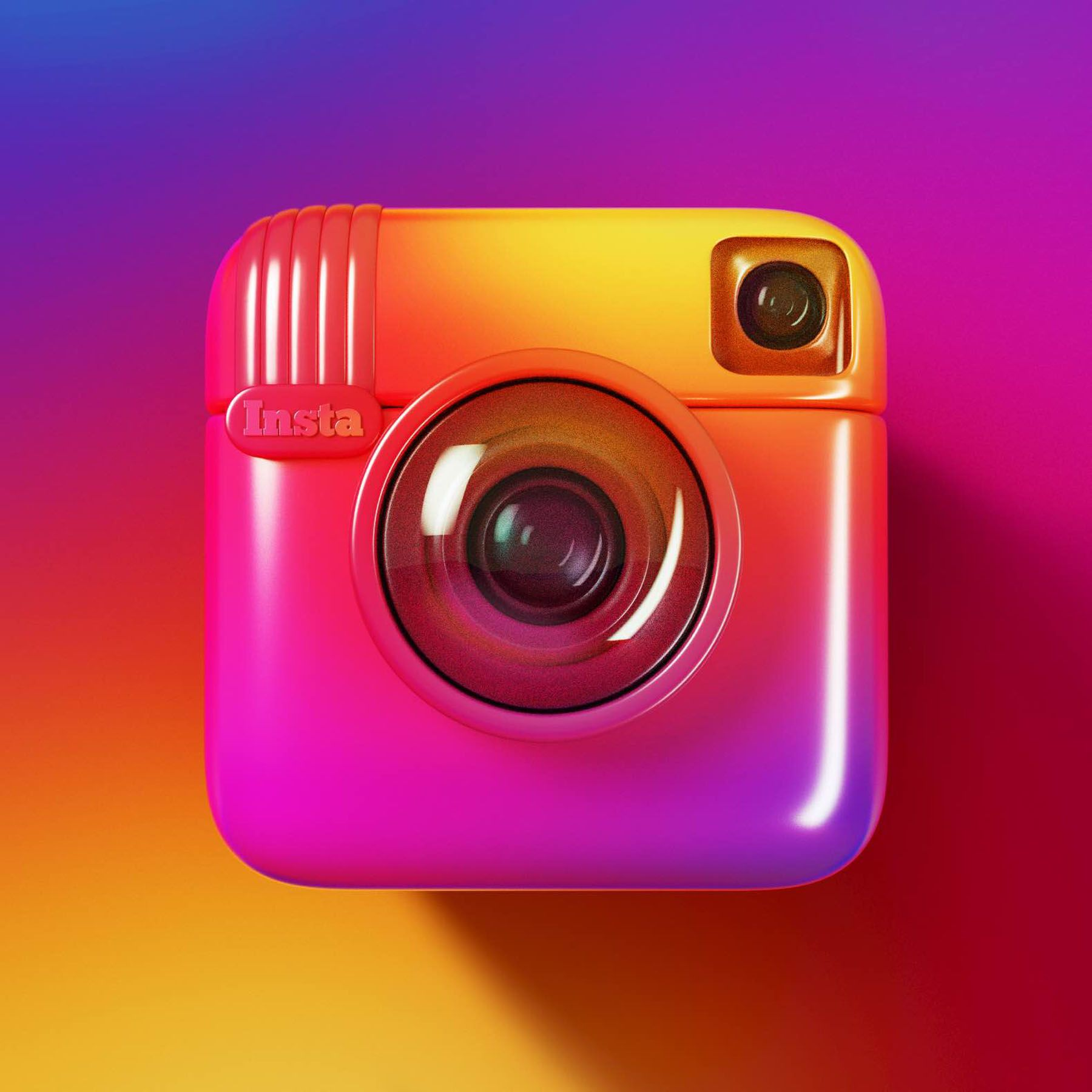 3D Illustration CGI design instagram Old instagram