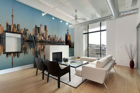Toronto Skyline Wall Mural Now available at #eazywallz #home