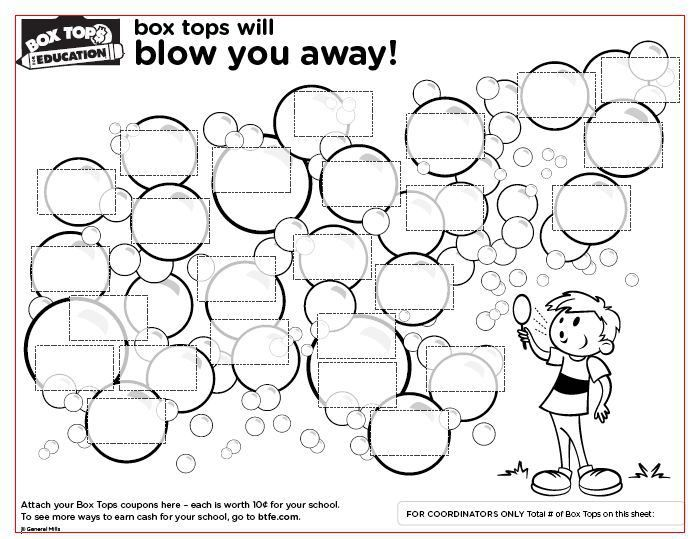 graphic relating to Box Top Printable Sheet identified as Box Tops for Education and learning Variety Sheets Do it yourself Box supreme
