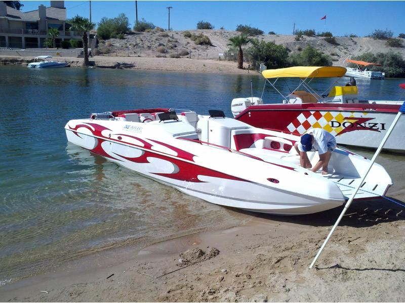 2003 Magic 28 Deck Boat Powerboat For Sale In Arizona In 2020 Power Boats Deck Boat Deck Boats For Sale