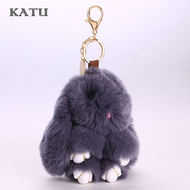 Wholesale Bunny Rex Rabbit Fur Phone Car Pendant Handbag Girl Key Chain Nice