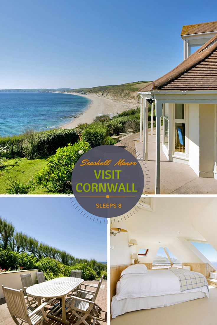 Seashell Manor In Cornwall Love The Beach Views Gorgeous Location For A Family Holiday By The Sea With Images Holiday Home Holiday Accommodation Large Holiday Homes