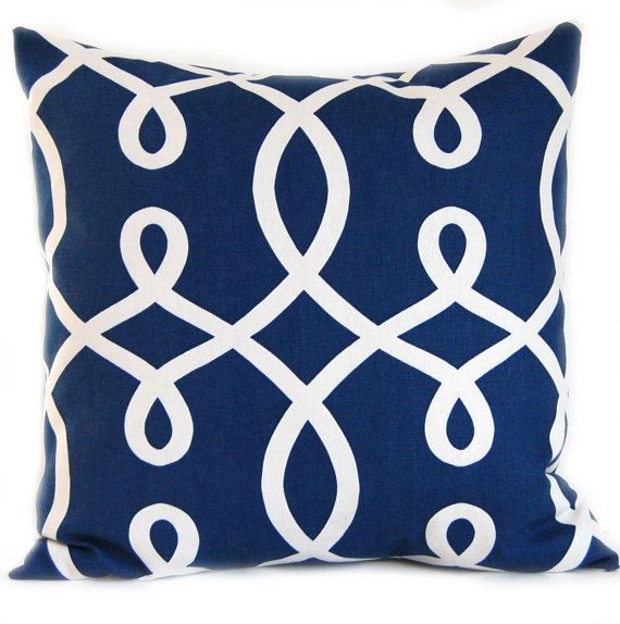 Navy Blue Decorative Pillow Cover 20 x 20 by FestiveHomeDecor